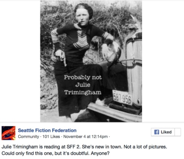 Seattle Fiction Federation- 8 December « Julie Trimingham